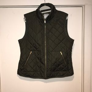 Quilted Green Vest